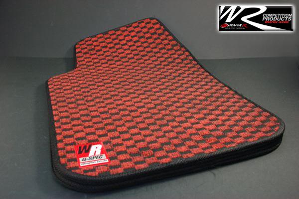 Weapon R G Spec Checker Car Floormats Red Black Mats Ebay