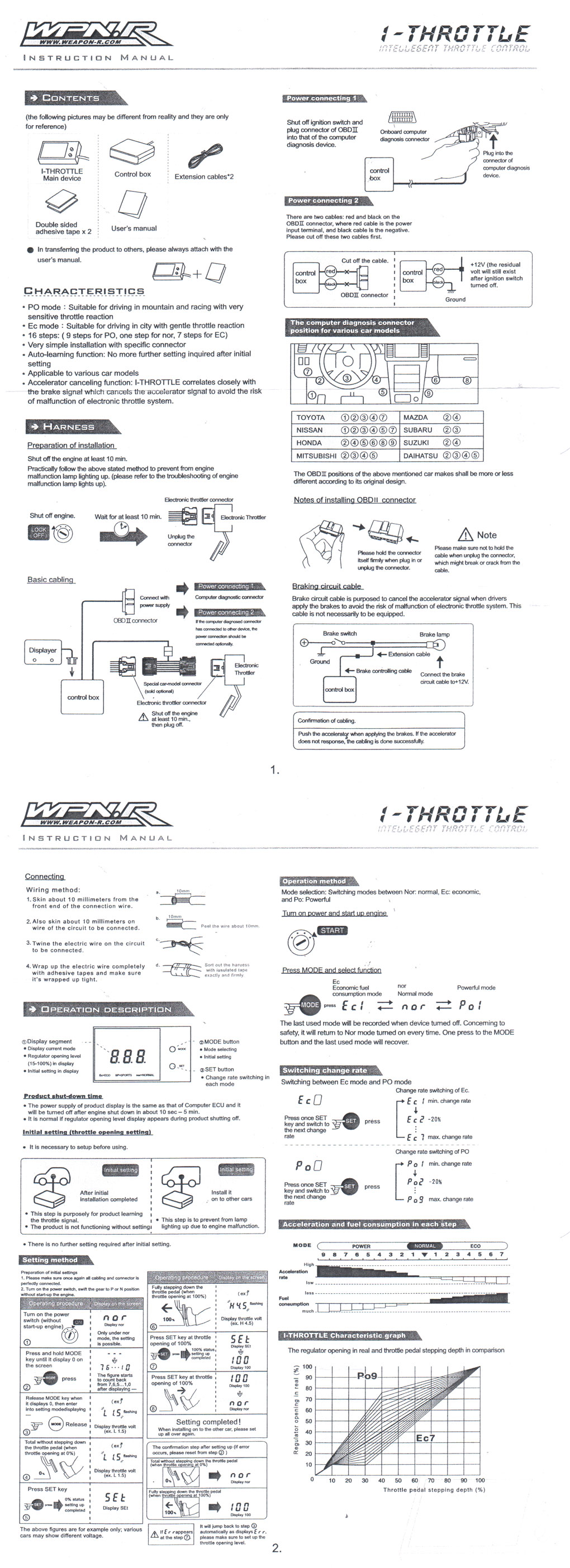 Compatibility Of Controller And Throttle Help Manual Guide